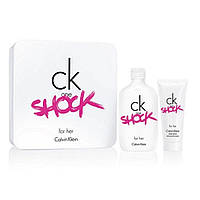 Женский подарочный набор CALVIN KLEIN CK One Shock for Her туалетная вода 200ml + лосьон для тела 100ml