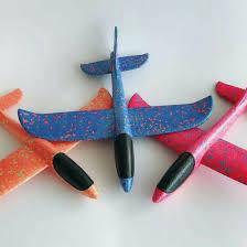 Большой пенопластовый планирующий самолёт Airplane 35 см(кол-во в ящике 100 шт.)