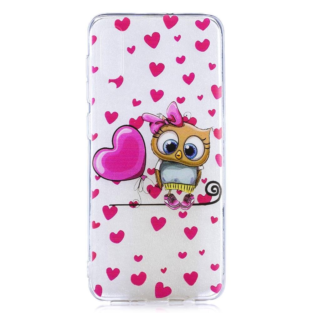 Чехол накладка для Samsung Galaxy A50 A505FD силиконовый, Милая сова