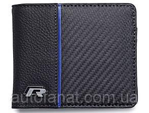 Оригинальный кожаный кошелек Volkswagen R Collection Wallet, Black (15D087400)