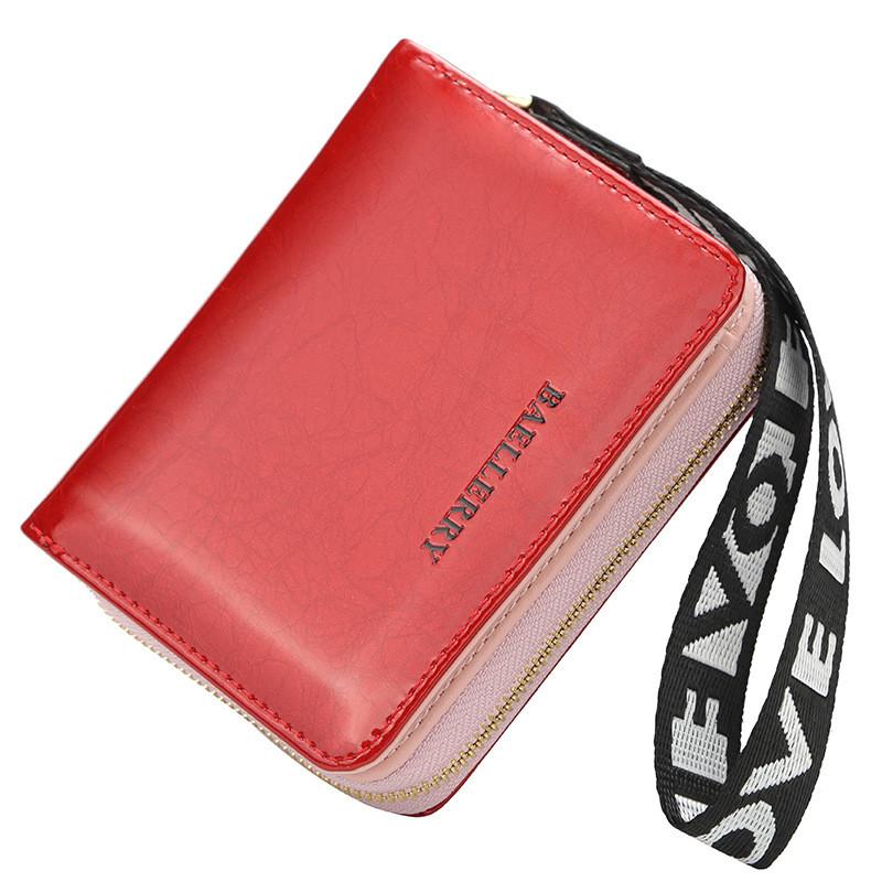 Жіночий гаманець BAELLERRY Fashion Korean Style клатч з ремінцем Червоний (SUN4658)