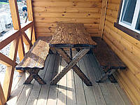 Комплект мебели из состаренного дерева