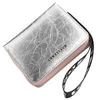 Жіночий гаманець BAELLERRY Fashion Korean Style клатч з ремінцем Срібний (SUN4660)