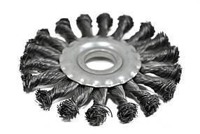 Щетка крацовка дисковая Spitce стальная закрученная 125 х 22.2 мм (18-162)