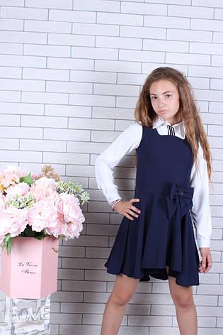 Школьный сарафан для девочки р.128-158 синий, фото 2