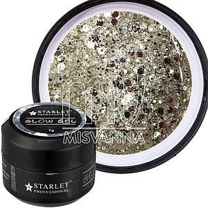 Glow Gel Starlet Professional №01, 7 г зеркальный блеск серебро