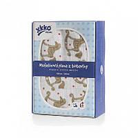 Пеленки детские из органического хлопка  XKKO 120х120  1 шт. Золотая лошадка