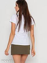 Женская хлопковая футболка с принтом Yes (S, M, L, XL, разные цвета), фото 2