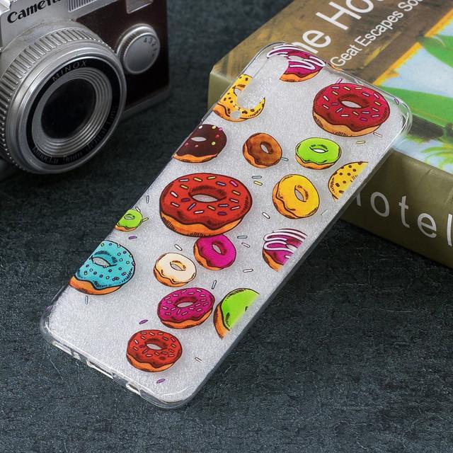 Samsung Galaxy a50 чехол накладка Разноцветные пончики