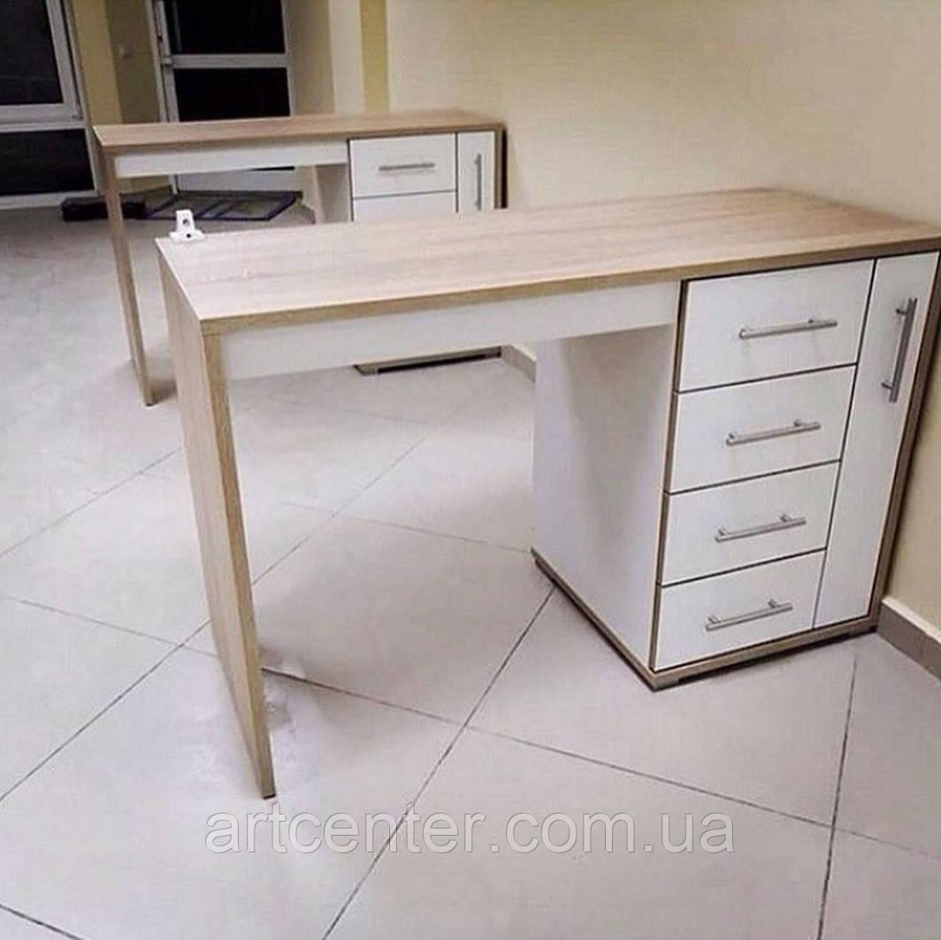 """Комфортный стол для маникюра с ящиком """"карго"""" и 5 выдвижными ящиками"""