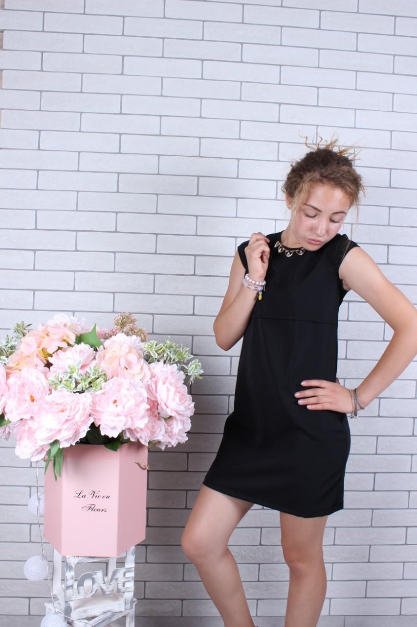 Подростковое платье р.128-158 черное