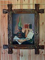 """Картина """"Забытый натюрморт"""" в раме из дерева (под старину)"""
