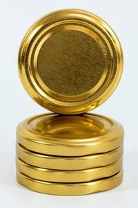 Крышка золотая диаметром 53 мм