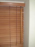 Жалюзи горизонтальные деревянные, бамбуковые 25 мм