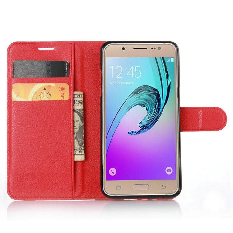 Чехол Luxury для Samsung J510 / J5 2016 книжка красный