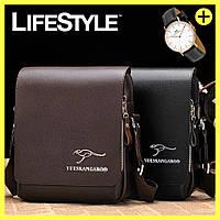 Удобная Мужская Сумка Kangaroo +  часы Daniel Wellington в Подарок