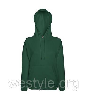 Толстовка легкая с капюшоном - темно-зеленая