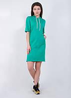Женское спортивное платье однотонное  9240 Зеленый XS-S