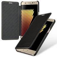 Кожаный чехол книжка TETDED для Samsung N935 Galaxy Note Fan Edition (Черный / Black)