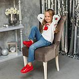 Вышиванка для девочки Трояндочка на домотканой ткани , фото 3