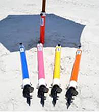 Бур для крепления пляжного зонта в песке, держатель для зонта в землю