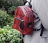114-1 Натуральная кожа Городской рюкзак Кожаный рюкзак Рюкзак женский фиолетовый рюкзак баклажан фиолетовый, фото 6