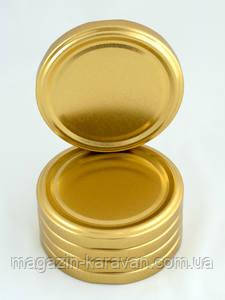 Золотая крышка твист 63 мм