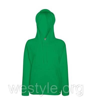 Толстовка легкая с капюшоном - ярко-зеленая