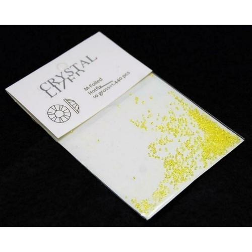 Стразы для декора ногтей Сваровски пикси желтые 1440шт