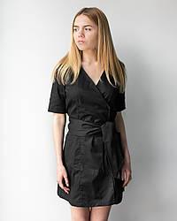 Женский медицинский халат Токио чёрный 40