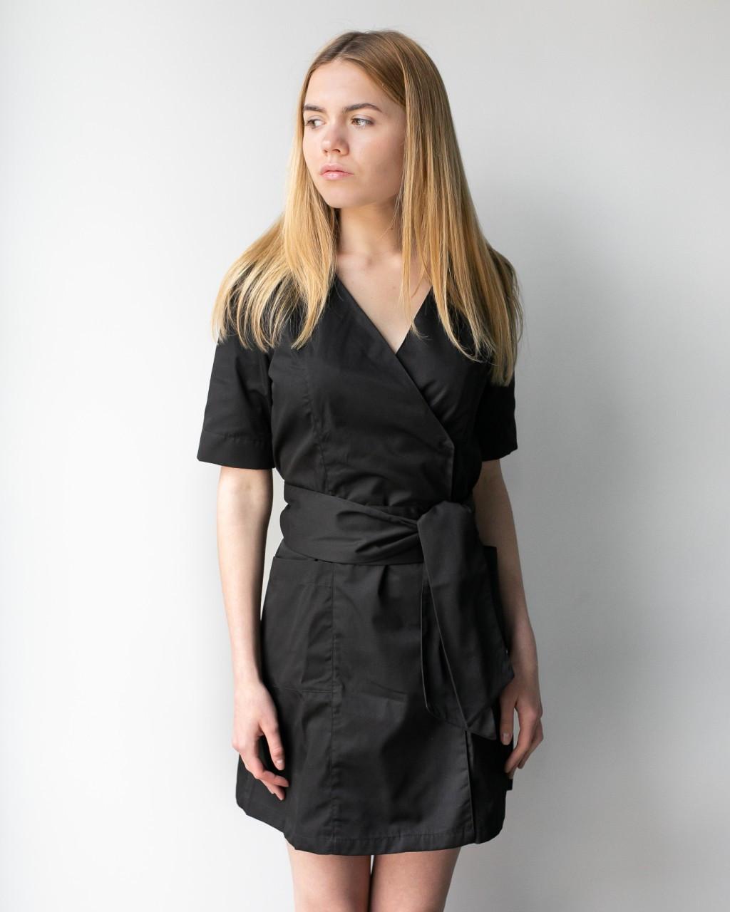 Женский медицинский халат Токио чёрный
