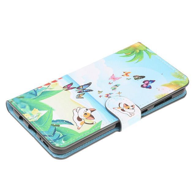 Samsung Galaxy a50 чехол книжка Котенок и бабочки