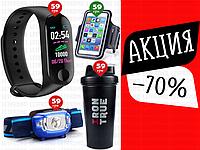 4пр. Фитнес-браслет M3/G3,Умный браслет м3,смарт-часы,Аналог Xiaomi Mi Band 3 Black в наборе