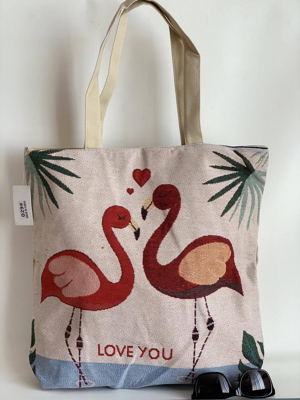 Льняная пляжная эко-сумка