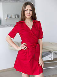 Женский медицинский халат Токио красный