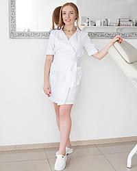 Женский медицинский халат Токио белый