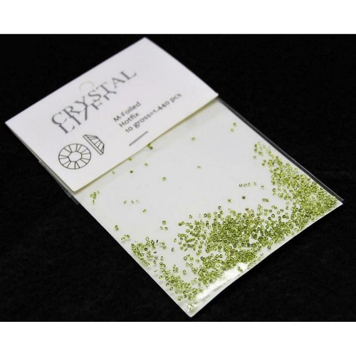 Стразы для декора ногтей Сваровски пикси зеленые 1440шт