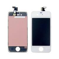 Дисплей (LCD) Apple iPhone 4 с тачскрином, белый оригинал