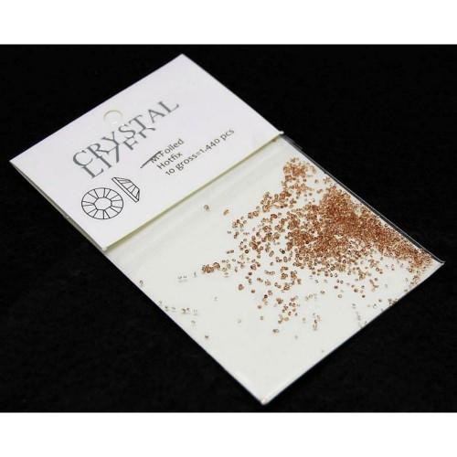 Стразы для декора ногтей Сваровски пикси коричневые 1440шт