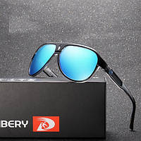 Мужские солнцезащитные очки с поляризацией  Dubery black/blue