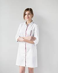 Женский медицинский халат Манхэттэн строчка цветная