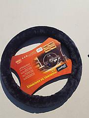 Чехол на руль Vitol черный M (37-38 см) с мехом