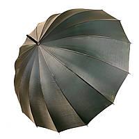 Женский зонтик-трость, полуавтомат от Calm Rain, оливковый / серый (хамелеон), 1002-2, фото 1