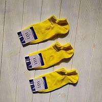 Шкарпетки жіночі Лана Лайкра Снікерси жовті, фото 1