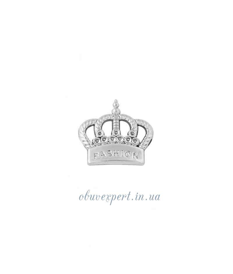 Декор мелкий Корона 18*20 мм Серебро