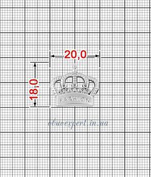 Декор мелкий Корона 18*20 мм Серебро, фото 2