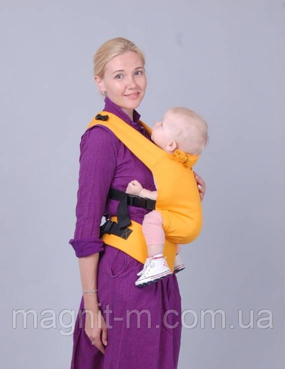 """Ерго-рюкзак """"ForKids"""" апельсин 1 розмір Не кенгуру! безпечно для дітей!"""