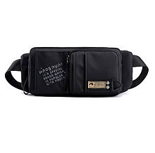 Сумка-бананка поясна Mackros SP3  вологостійка борсетки сумка через плече колір чорний