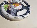 Чехол на руль Vitol белый M (37-38 см) футбол, фото 2