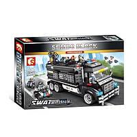 "Конструктор Sembo 102477 ""Полицейский фургон - база"" (аналог Lego City), 1164 дет, фото 1"